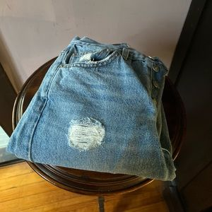 Reformation ripped jeans size 25